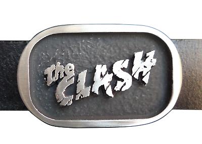 Audace The Clash Logo Punk Peltro Fibbia Cintura - Mano Made In The Uk Alta Sicurezza