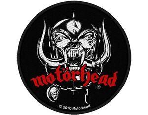 MOTORHEAD-war-pig-skull-2010-circular-WOVEN-SEW-ON-PATCH-official-merch-LEMMY