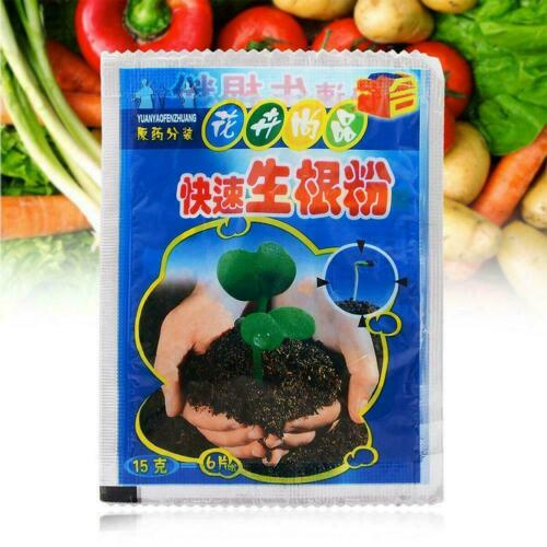 10pcs Fast Rooting Powder Hormone Wachsende Wurzel Pflanzen F7P8 Sämling E2M1