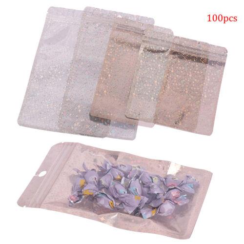 100pcs Zip lock Plastic Bag Food Mylar Pouch Zipper Reclosable Pouches
