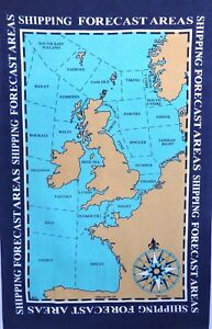 Shipping Forecast Areas Galley Cloth / Fabric Poster / Tea Towel