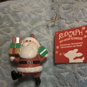 Rudolph-The-Red-Nosed-Reindeer-SANTA-Presents-Christmas-Ornament-Kurt-Adler