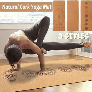 Yogamatte-Naturkork-Naturkautschuk-Rutschfest-inkl-Yogatasche-aus-Kork-Mat