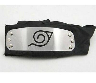 DZ490* On Sale Hot Sale For NARUTO LEAF Black Headband Head Band Cosplay New Z