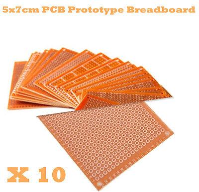 10Stk 5x7cm 5*7 Leiterplatte Streifenraster Platine PCB Board DIY Prototype Pape