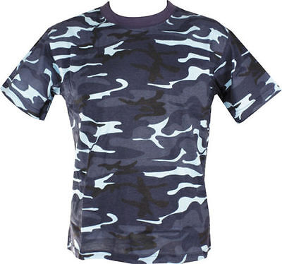 MENS MILITARY CAMOUFLAGE CAMO T SHIRT  XS - XXXL ARMY COMBAT 100% COTTON