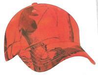 Realtree Apb Blaze Orange Camouflage Camo Hunting Hat Cap