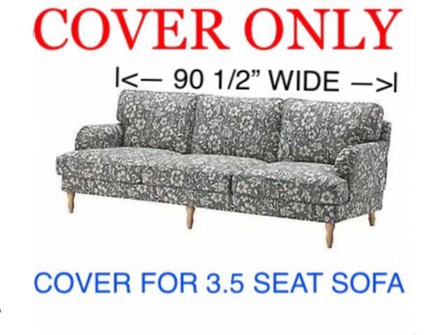 Incredible Ikea Stocksund Cover Slipcover Hovsten Gray White For 3 5 Seat Sofa 203 063 73 Dailytribune Chair Design For Home Dailytribuneorg