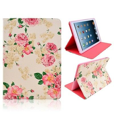 Flower Case Cover for Apple iPad Air 1 2 iPad 234 Mini 123 Folding or 360 Stand