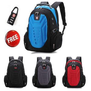 15.6/'/' Blue Swiss Laptop Bag Business Backpack Travel Hiking Bag School Rucksack