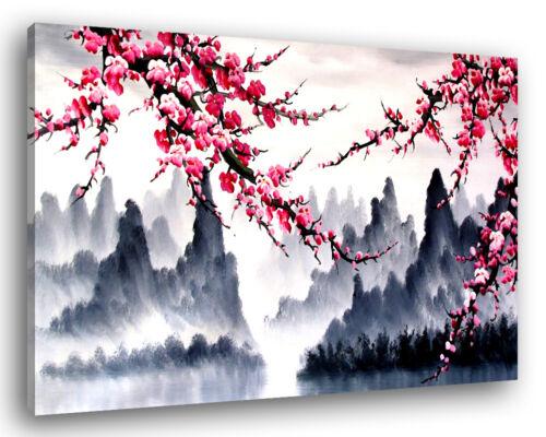Quadro Moderno ORIENTAL FLOWERS Vari Formati Fiori Arredamento Stampa su Tela