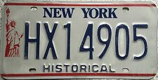 FREE UK POSTAGE New York Liberty Historical USA License Number Plate HX14905