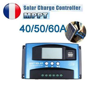 30/40/50A MPPT Contrôleur charge Régulateur de batterie panneau solaire 12V/24V