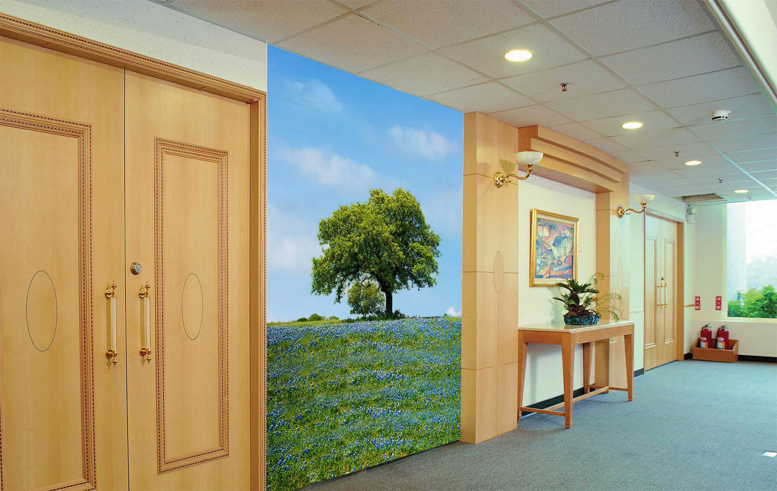 3D Field Tree 540 Wallpaper Murals Wall Print Wall Mural AJ WALL AU Summer