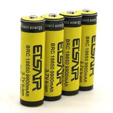 4pcs 18650 3.7V 9900mAh Rechargeable Li-ion Battery Yellow Batteries USA Stock