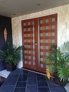 Image Is Loading 1800mm Square 25x25mm Stainless Steel Pair Entry Front