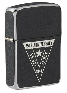 Zippo-Unisex-Lighter-VE-VJ-75th-Anniversary-Collectible-Windproof
