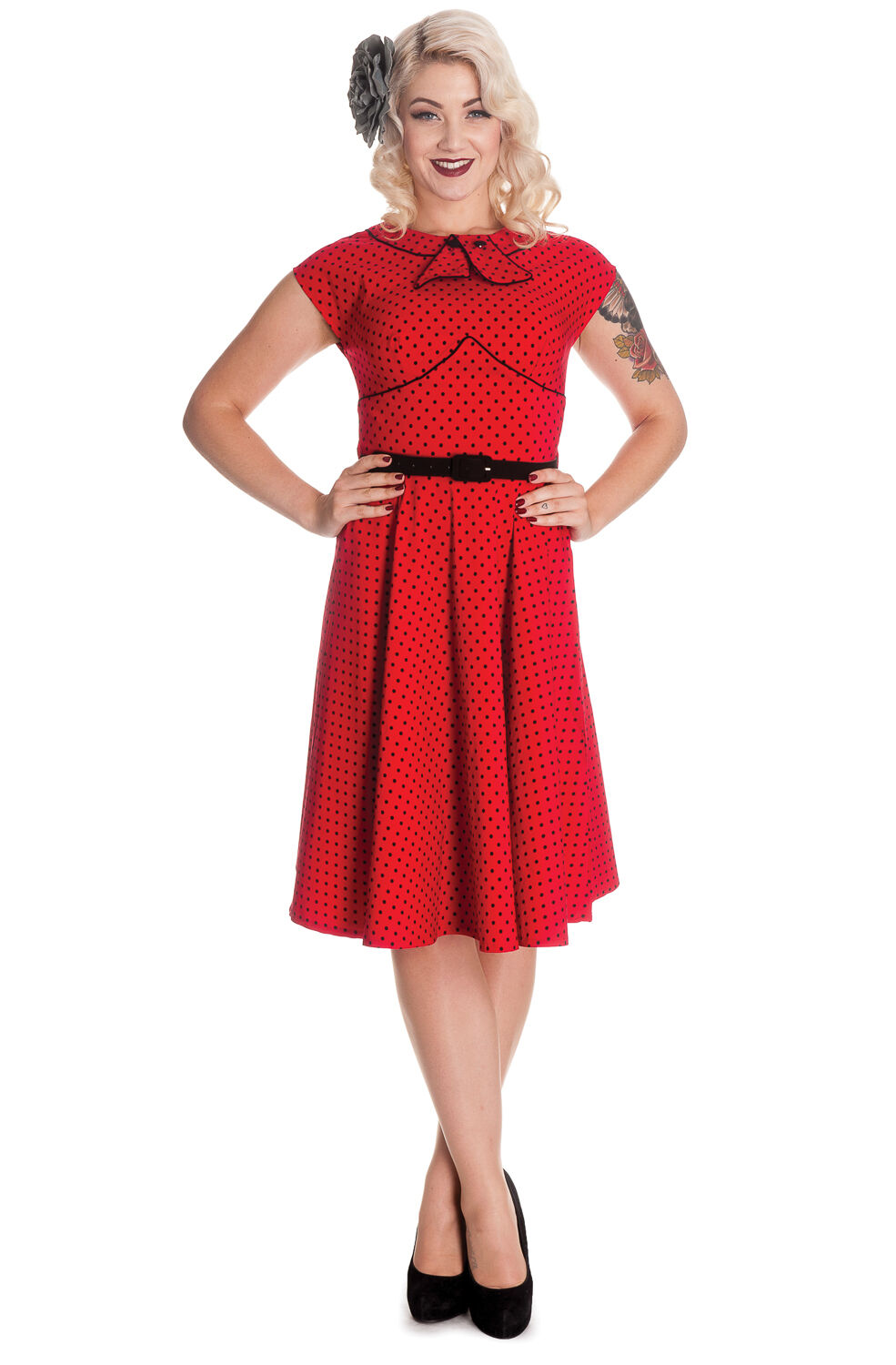 hell bunny noreen dress 40s 50s tea party pin up retro rockabilly vintage style ebay. Black Bedroom Furniture Sets. Home Design Ideas