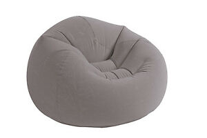 Intex-Inflatable-Contoured-Corduroy-Beanless-Bag-Lounge-Chair-Grey-68579EP