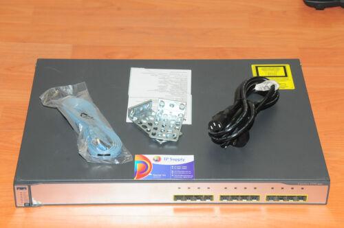 Cisco WS-C3750G-12S-E Switch 12 Gigabit Port Stackable w//Racks 6MthWtyTaxInv