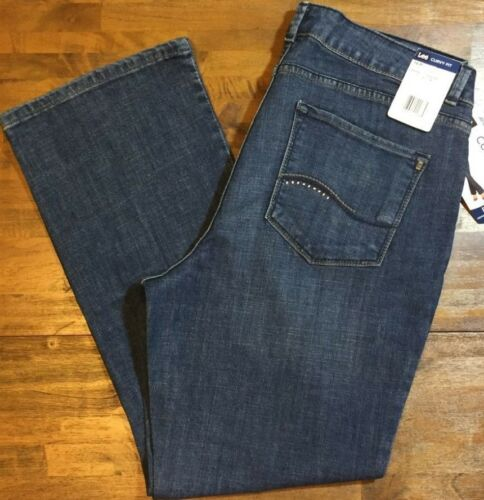 Lee 16 Stretch medio lavaggio Curvy Jeans Bootcut Petite Nwt Donna P Fit 83622022865 Leg Inn0Px