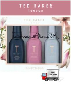 Christmas Gift Sets 2019.Details About Ted Baker Harmony Blooms Body Spray Trio Ladies Christmas Gift Set 2019