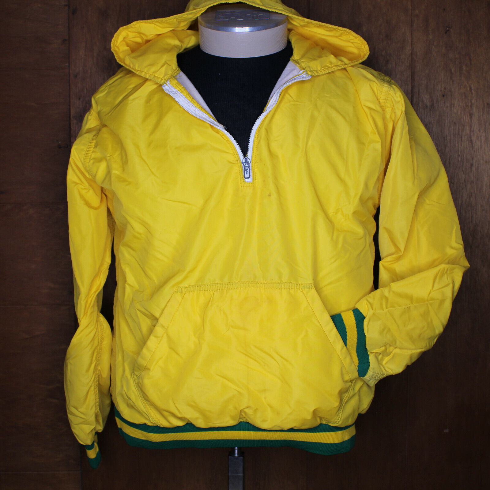 VTG 70s Russell Zip Hooded Jacket Medium School C… - image 2