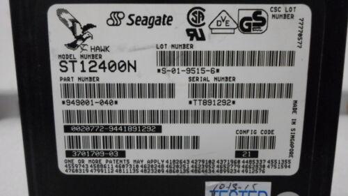 Seagate Hawk ST12400N 949001-040 3701709-03 2.15GB SCSI-2 Hard Drive TESTED