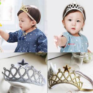Kids Baby Girls Headbands Tiaras Crown Princess Hair Accessory 1st Birthday gift