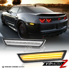 [CLEAR LEN] 2010-2015 Chevy Camaro Amber FULL LED Rear Bumper Side Marker Lights