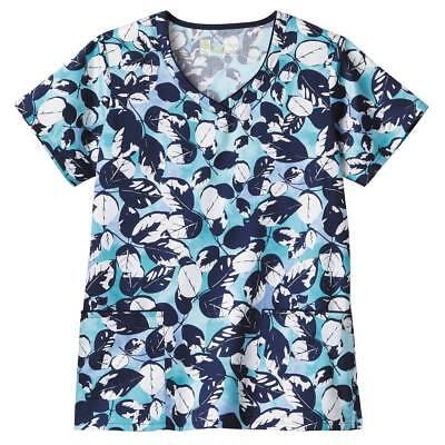 Bio Women/'s Style 5416-444 Print Scrub Top Sizes XXS to 3X Free Shipping