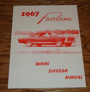 1967 ford fairlane wiring diagram manual brochure 67 ebay rh ebay com 1967 ford fairlane alternator wiring diagram