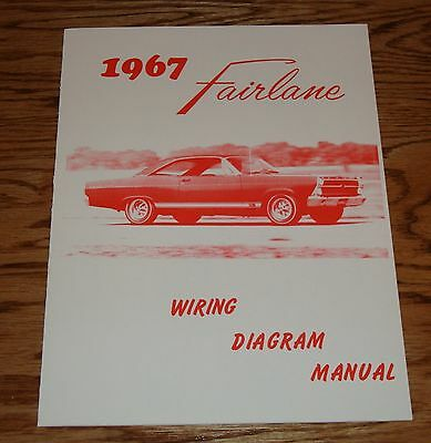 1967 ford fairlane wiring diagram manual brochure 67 ebay. Black Bedroom Furniture Sets. Home Design Ideas
