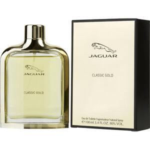 JAGUAR-CLASSIC-GOLD-by-Jaguar-edt-Spray-for-Men-3-3-3-4-oz-NEW-in-BOX