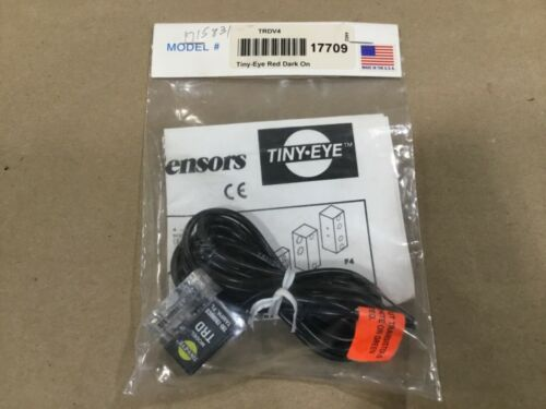 Tri-Tronics TRDV4 Miniature Sensor TRD Tiny-Eye Red Dark On #18F93RM