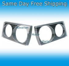 New Mercedes Benz 1977-1985 300D Left & Right Headlight Door Bezel Frame Set