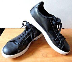 Details about Adidas NEO Cloudfoam Advantage Court Shoes Black Leather / White Men's Size 7.5