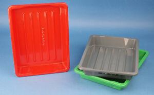 In Der GüNstigste Preis 3x 18x24 Foto Laborschalen Entwicklungsschalen Tabletts 10015 Duftendes Aroma