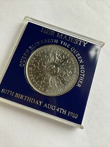 Crown Coin 1980 QUEEN ELIZABETH QUEEN MOTHER 80TH BIRTHDAY 4 AUG 1980 TSB BANK