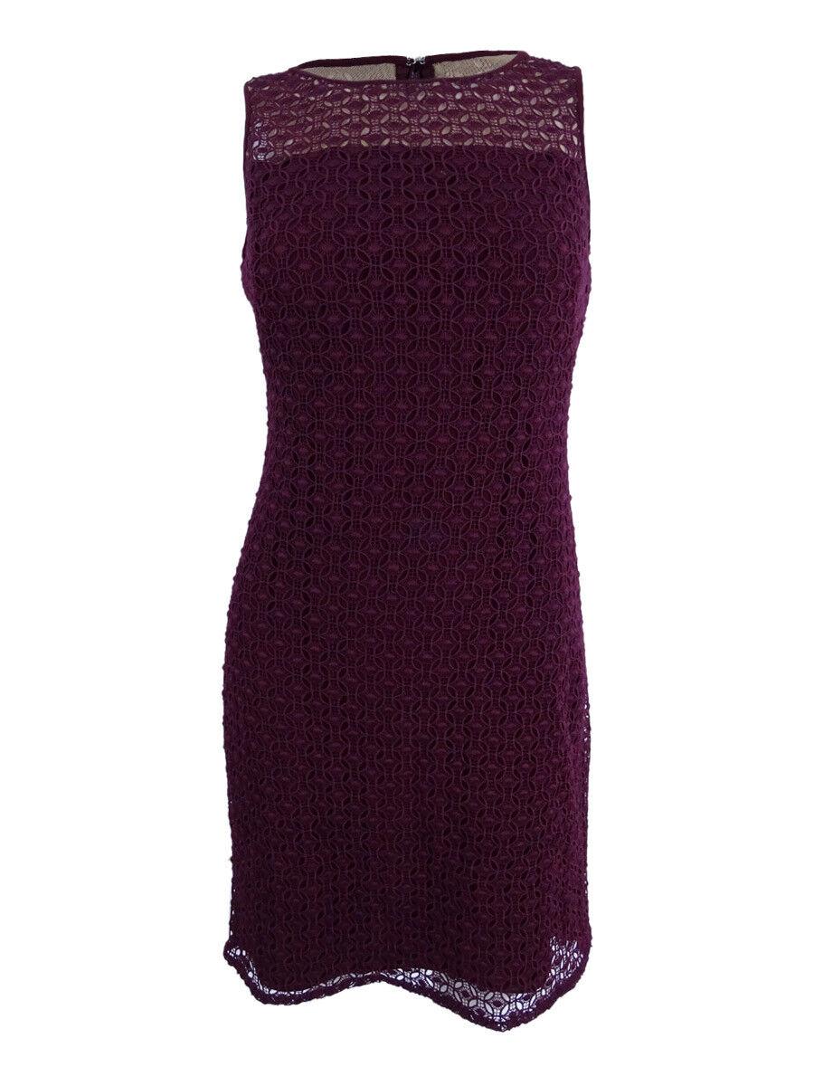 Lauren by Ralph Lauren Woherren Geometric-Lace Sleeveless Dress