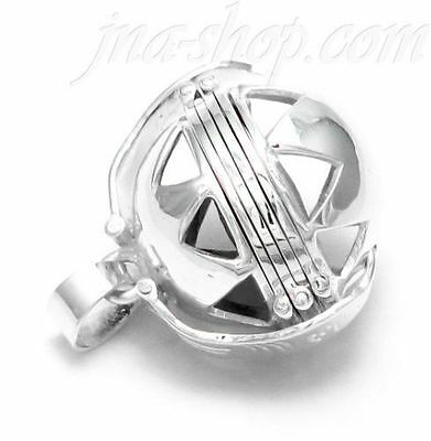 "20/"" Box Chain 925 Sterling Silver 6-Picture Photo Ball Openwork Locket Pendant"