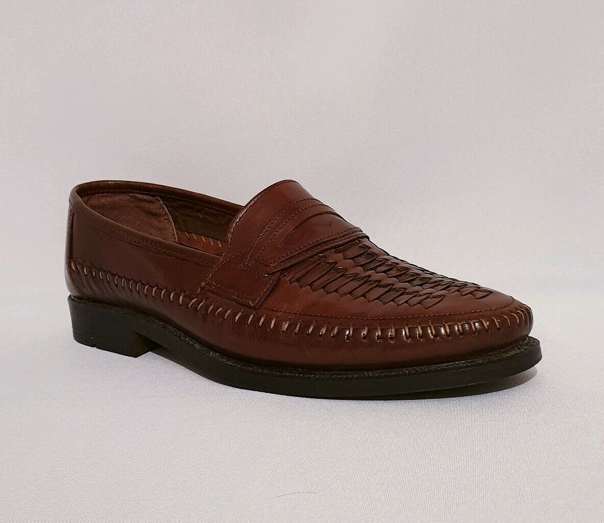 ad9f054dbf9 Clarks Brown Genuine Weave Loafers Summer shoes Mens Tan Leather  nnnygd1048-Casual Shoes
