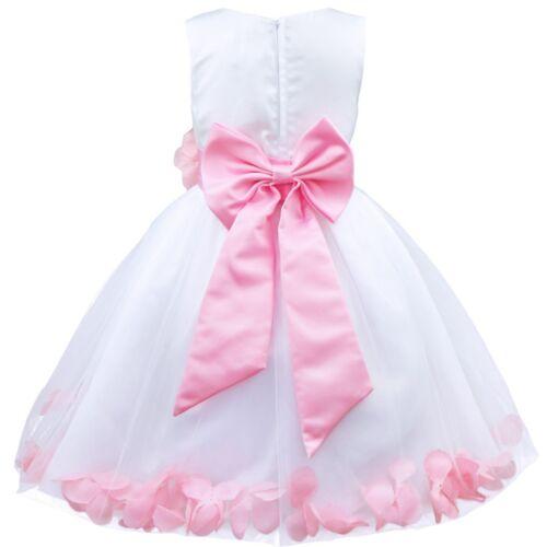 Petals Flower Girl Dress Princess Pageant Wedding Bridesmaid Graduation Kid Gown