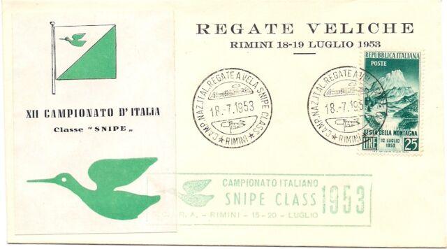 P6600   Rimini, Annullo Camp. Naz. Regate a vela Snipe 1953
