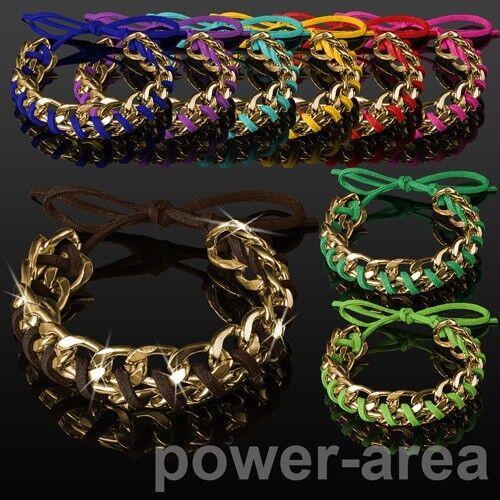 Shamballa Damen Leder Armband Strass Damenarmband Armkette