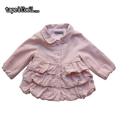 French tapealoeil Baby Girls//Todder Purple Chunky Knit Coat Size 3M//6M//9M//23M