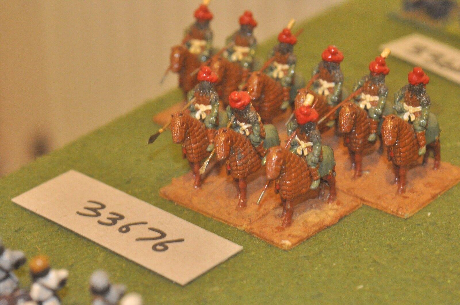 25mm classical   indian - heavy 9 figures - cav (33676)