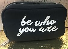 Bobbi Brown Super Cute Black Be Who You Are Makeup Bag, NEW, Canvas
