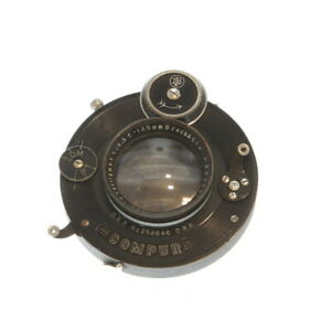 Vintage-Brack-amp-Cie-135mm-f-4-5-Robra-Doppel-Anastigmat-Medium-Format-Lens-UG