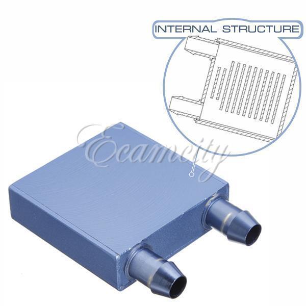 Water Cooling Heatsink Block Waterblock Liquid Cooler Aluminium For CPU GPU New